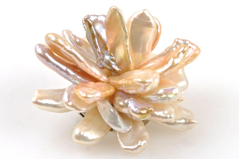 stella rose petal flower brooch