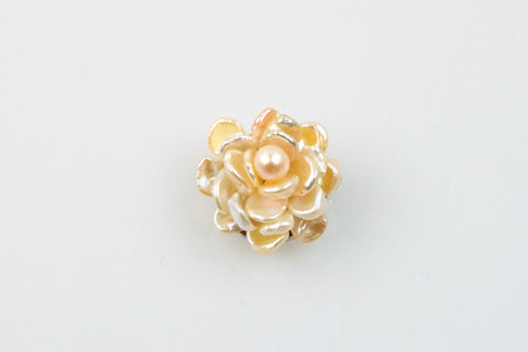chinese freshwater pearl magnolia brooch