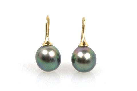 oval tahitian pearl earrings