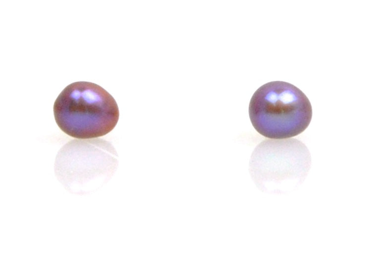 tiny purple egg stud earrings