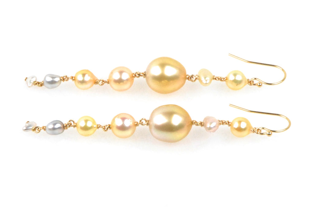 cascade medley pearl earrings
