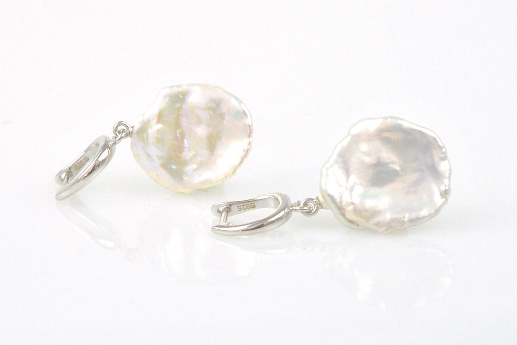 light keshi pearl earrings