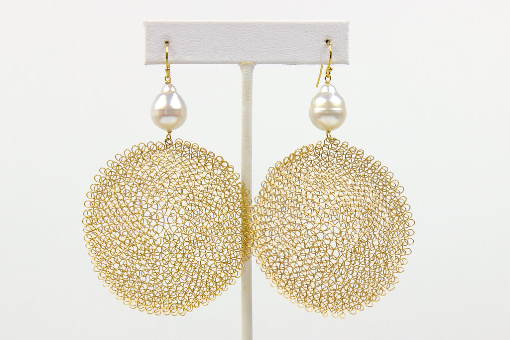 woven sunshine earrings