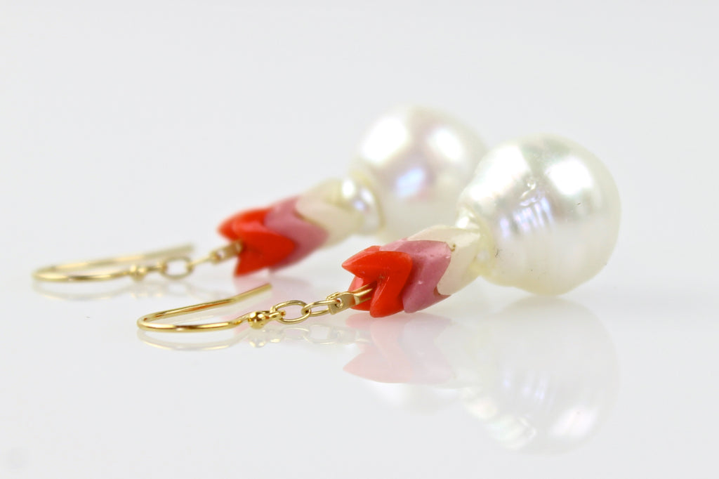 with warmth south sea pearl earrings