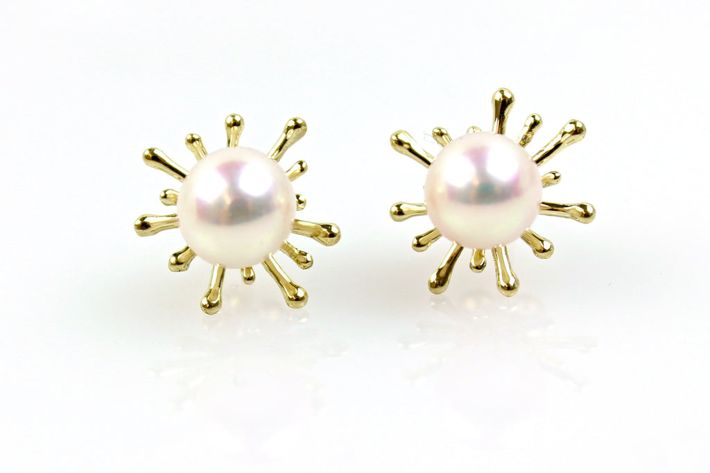 star landing pearl stud earrings