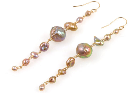 intense color japan kasumi pearl earrings
