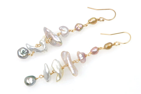 keshi pearl medley earrings