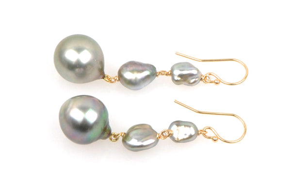 islander tahitian pearl earrings