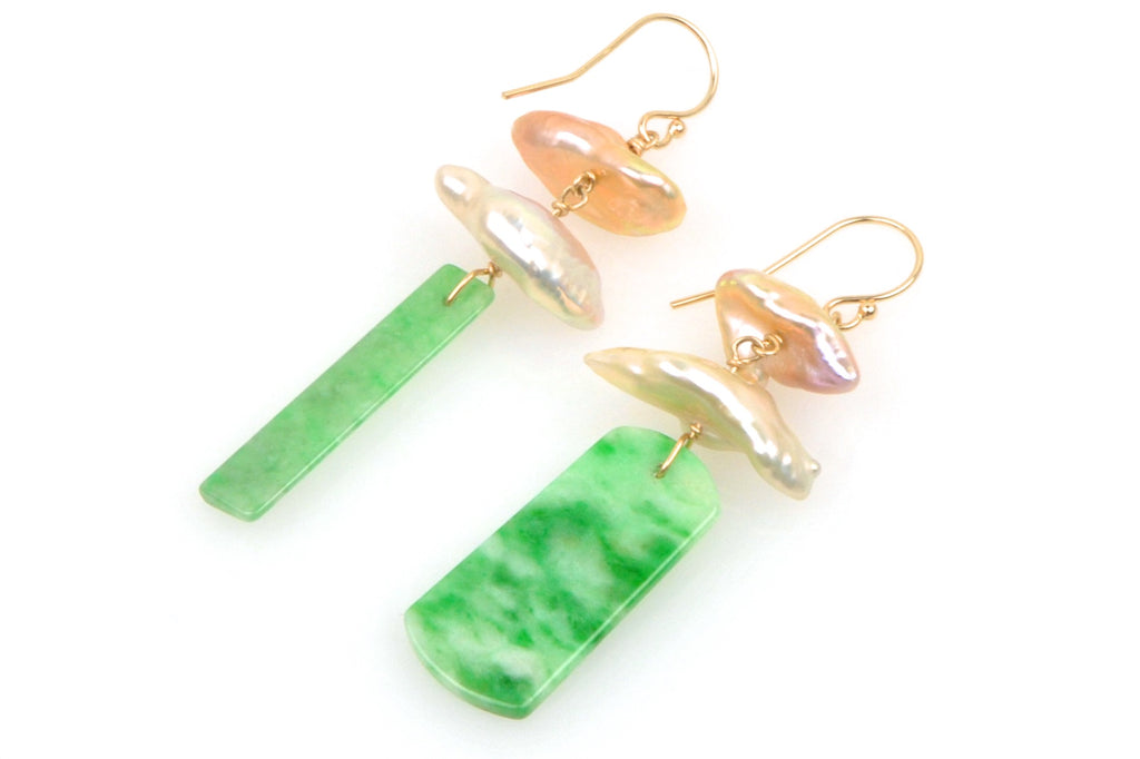 temple jade and pearl earrings