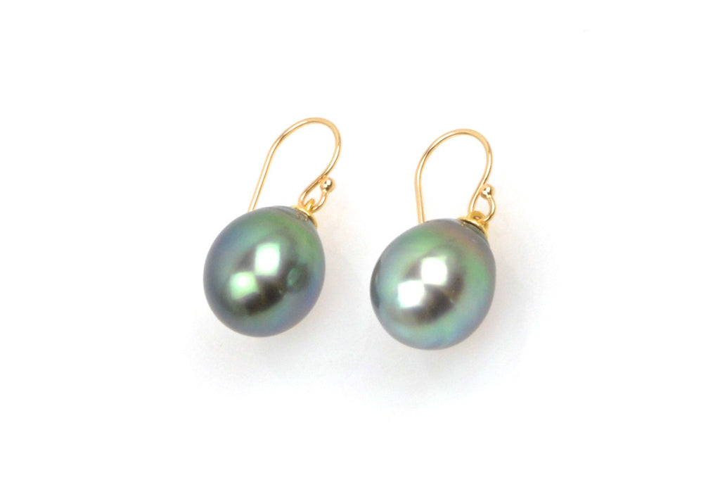 tahitian pearl egg earrings