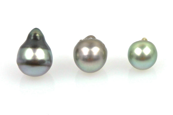 bubble baroque tahitian drop pearls