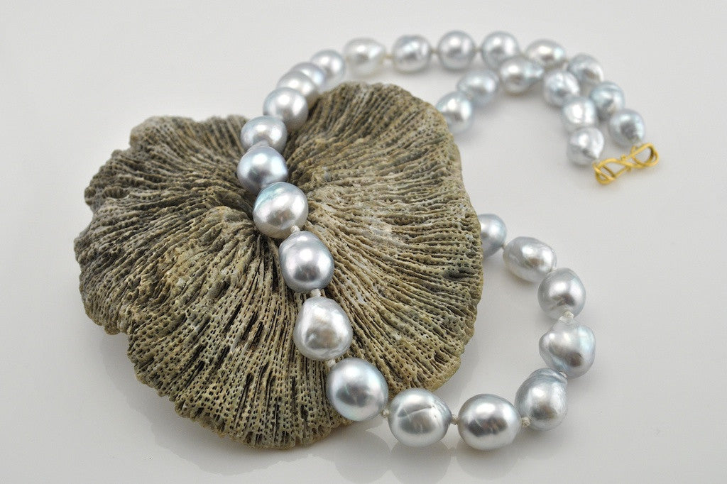 GLOWING SOUTH SEA PEARL NECKLACE