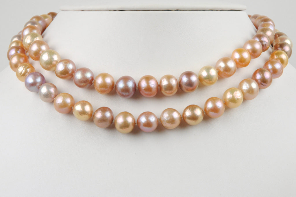 opera length fresh water pearl necklace