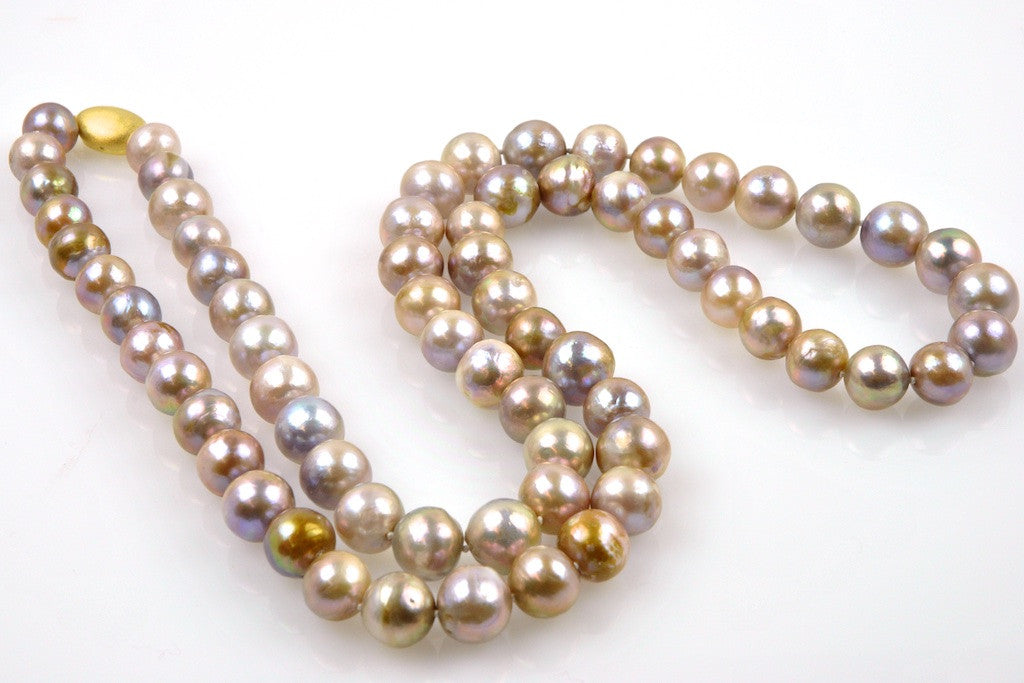 earthtone pearl necklace