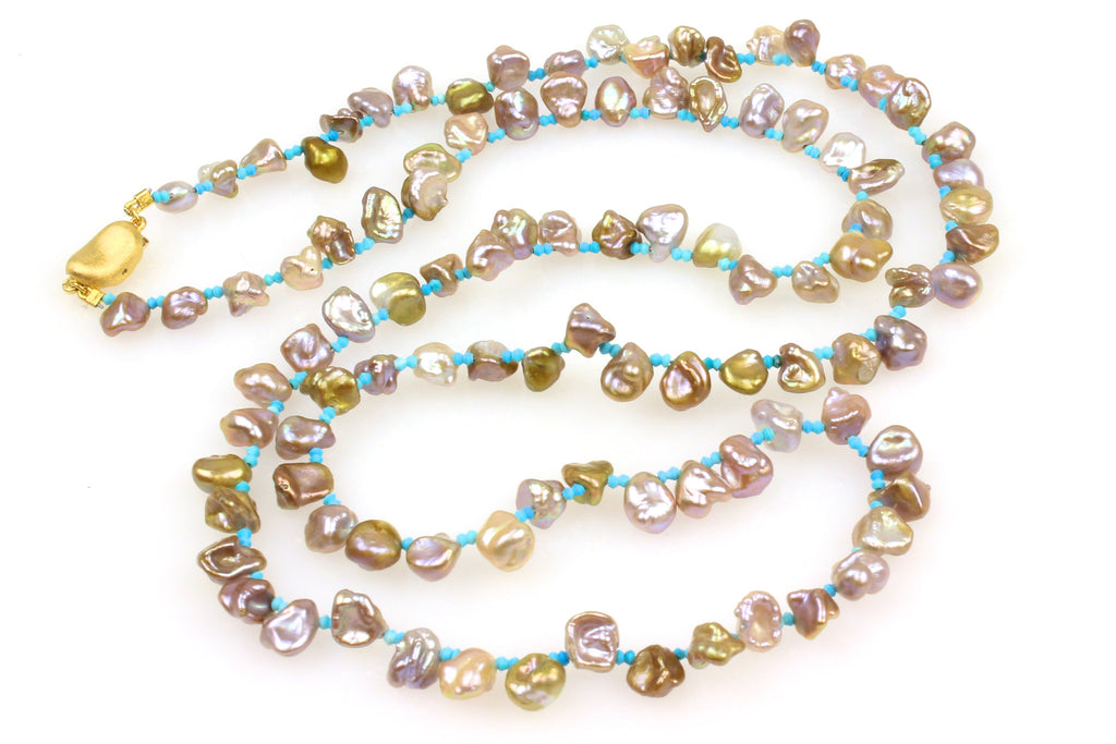 by the sea petal pearl necklace
