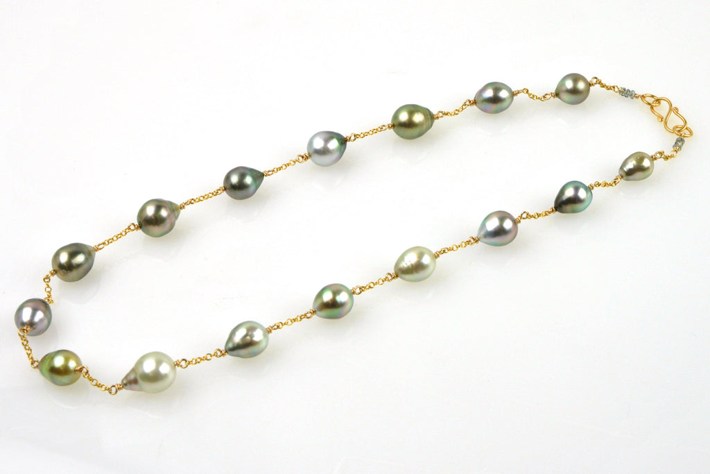 tula tahitian pearl necklace