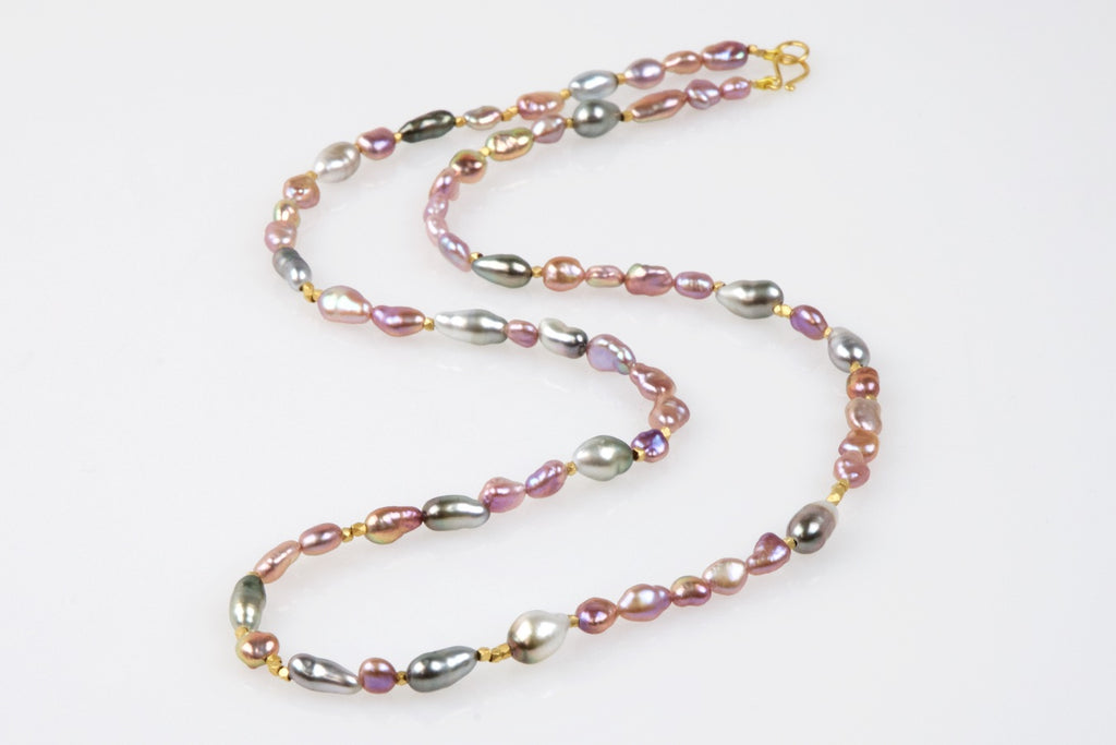 rich keshi pearl medley necklace