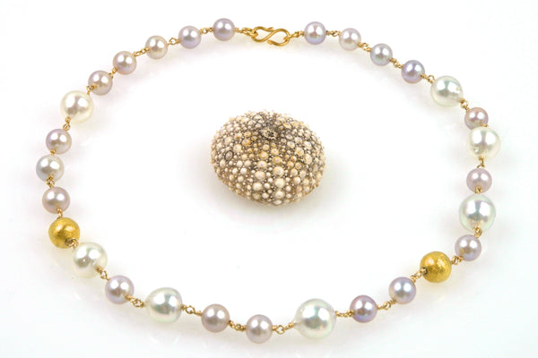 natural color pearl choker necklace