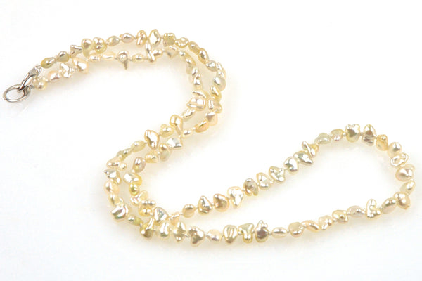 champagne japan akoya keshi pearl necklace
