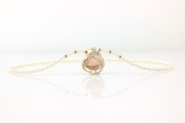 peach petal necklace