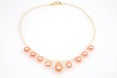 budding blossoms pearl necklace