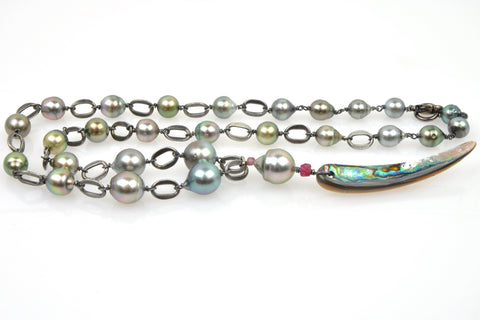 pacific tahitian pearl necklace