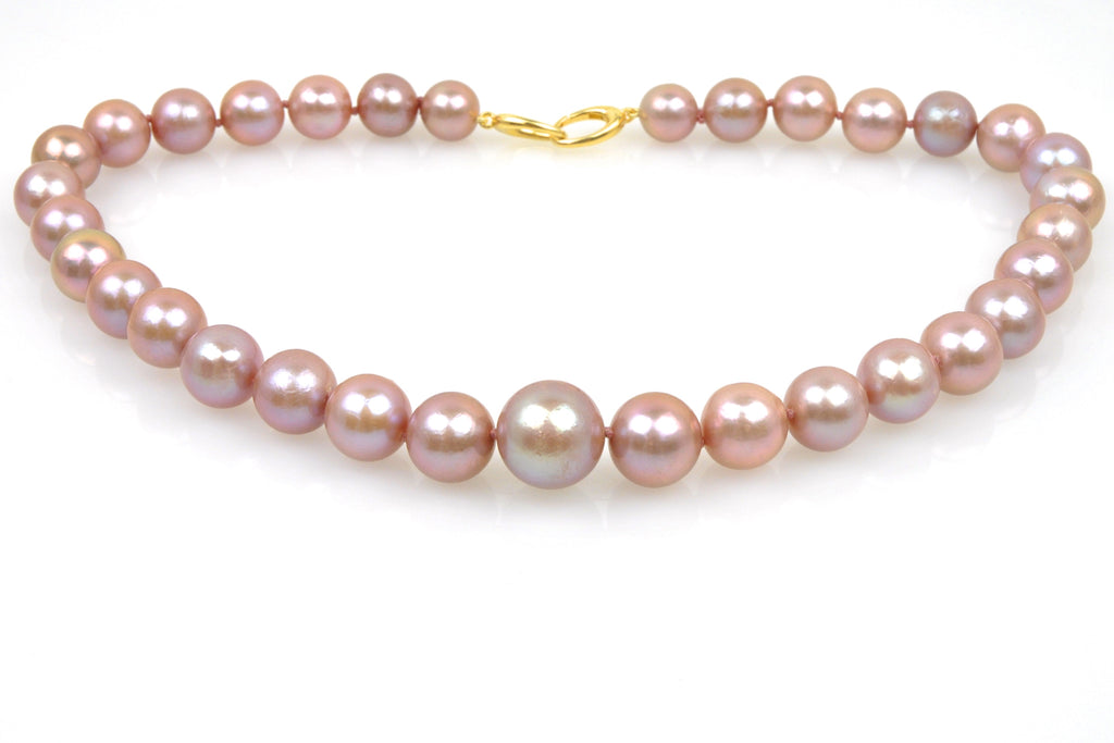 dusty rose regal pearl necklace