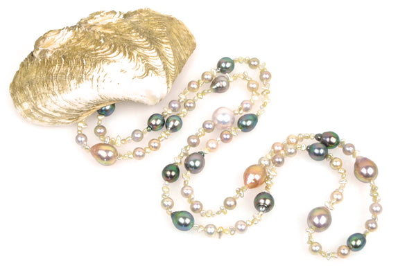 pearl cascade necklace