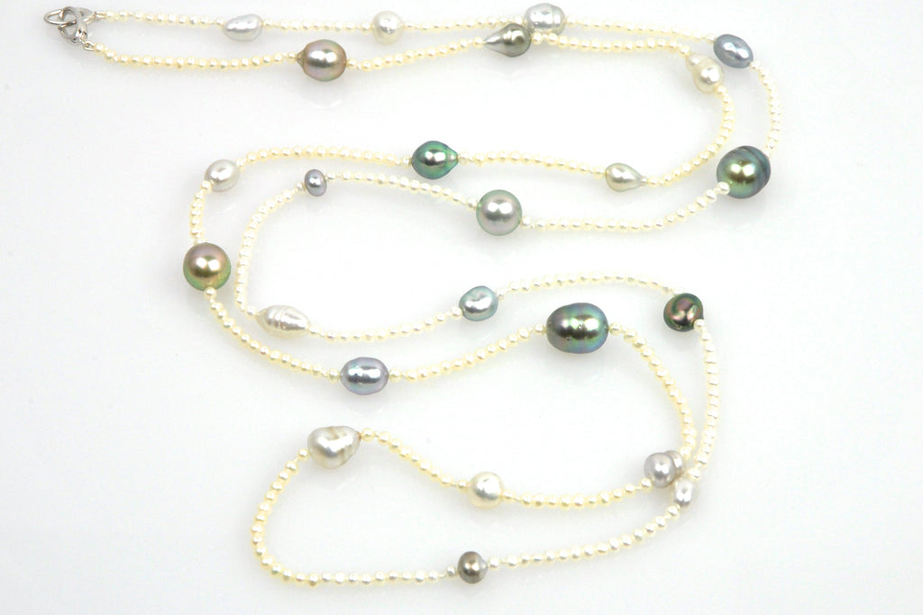 tahitian dewdrop pearl necklace
