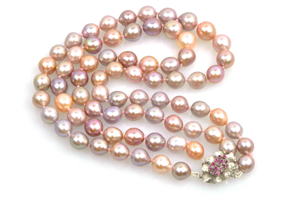 floribunda double strand pearl necklace