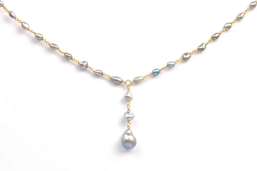 sea of cortez keshi tin cup pearl necklace