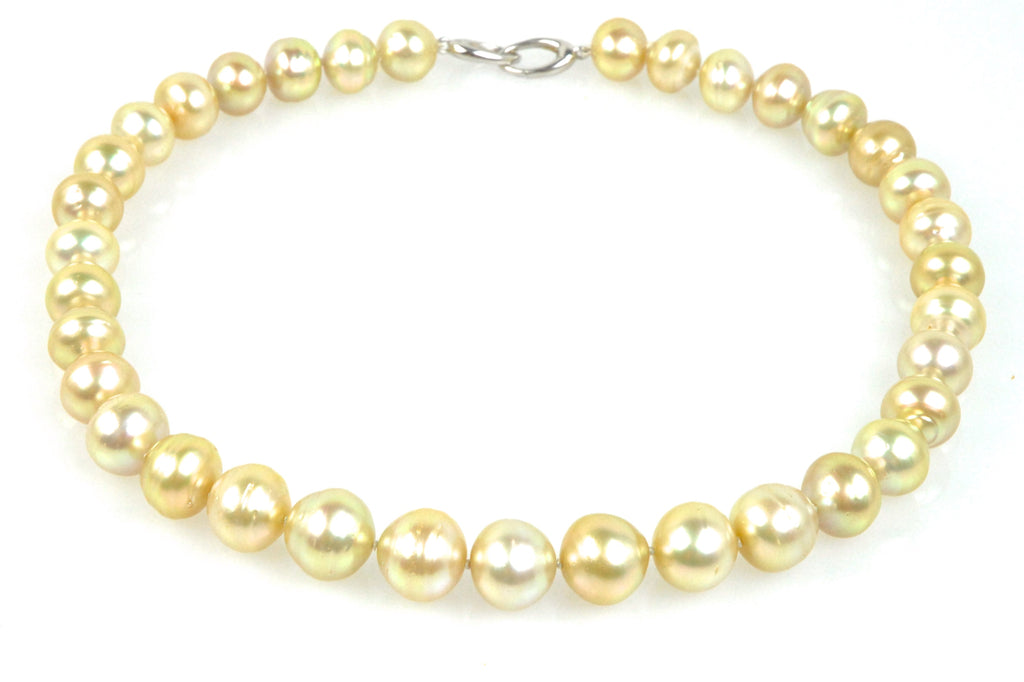 karimata golden south sea pearl necklace