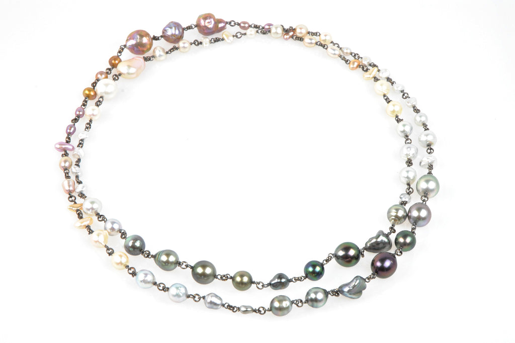moonshadow pearl medley necklace