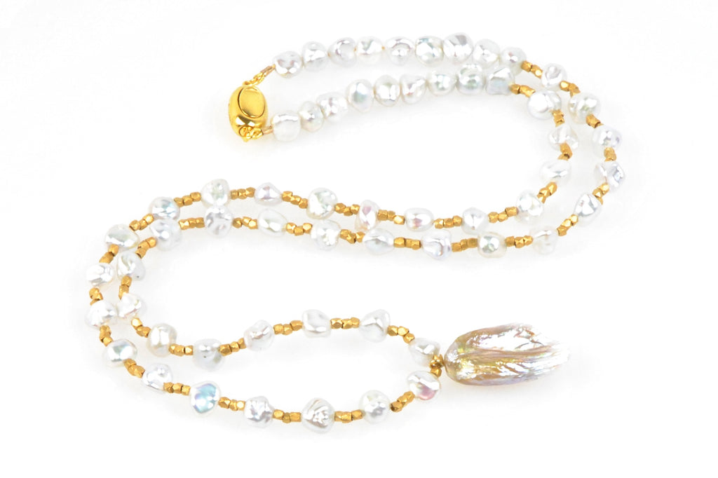 light as a feather pearl necklace