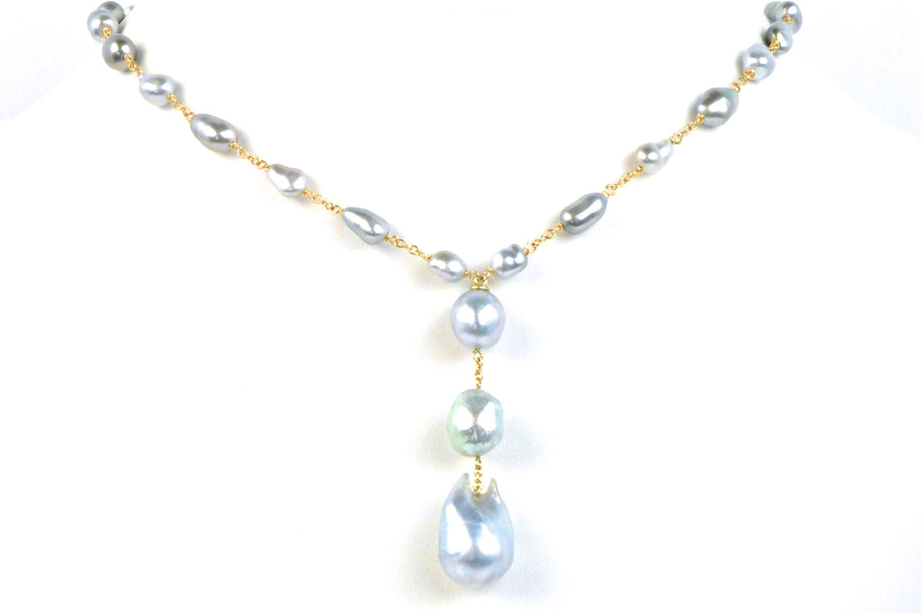lilith south sea and tahitian keshi pearl necklace