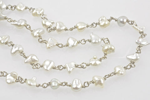 wrapped japan akoya keshi pearl necklace