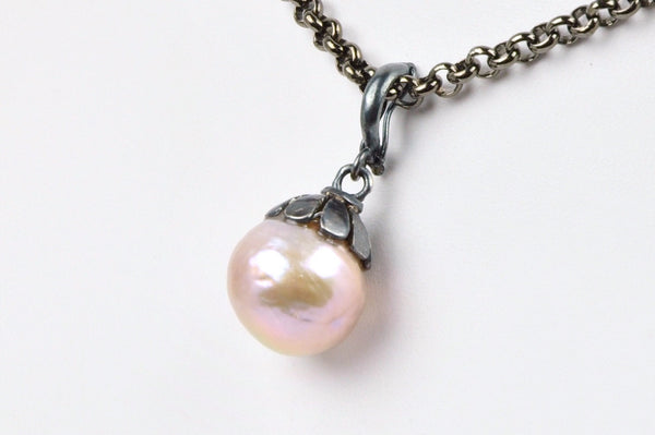 blossoming pink pearl enhancer pendant