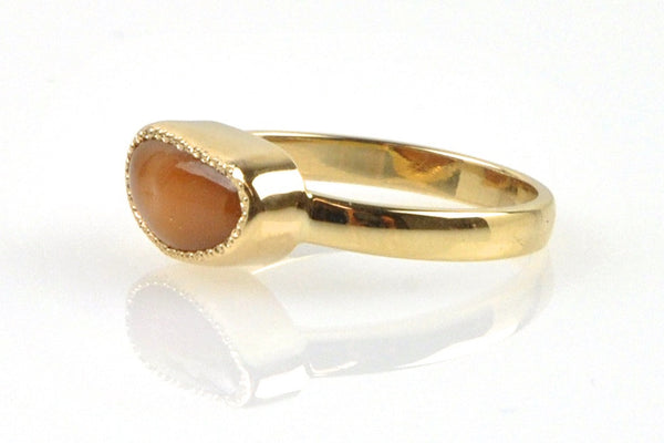 natural wild horse conch pearl ring
