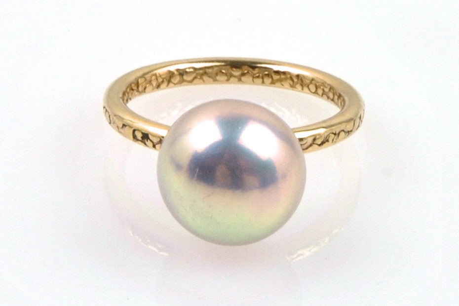 natural iridescence button pearl