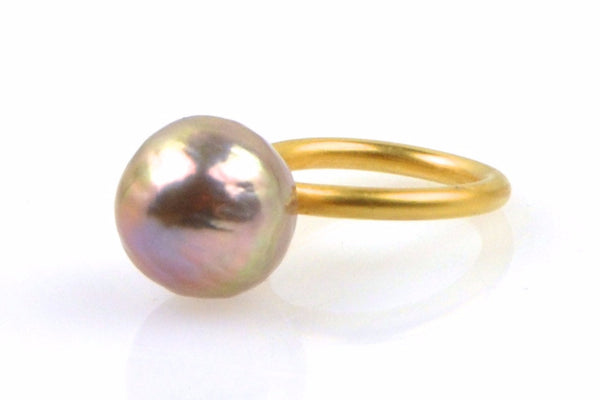 ripple pearl stacking ring