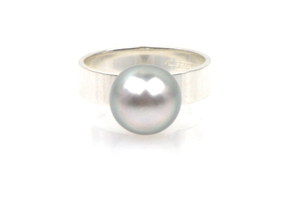 tahitian button pearl ring
