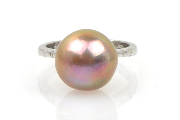 big baroque japan kasumi pearl and diamond ring