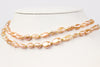brilliant apricot chosen keshi rope necklace