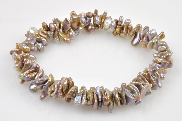 stacked golden bronze lavender chinese fresh water strand