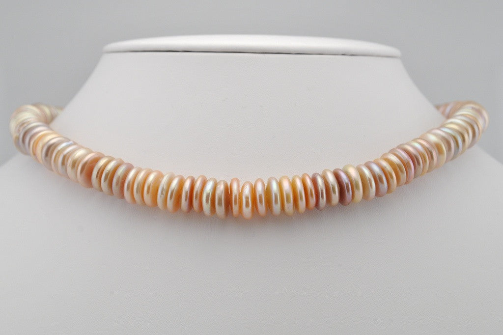 stacked coin pearl strand
