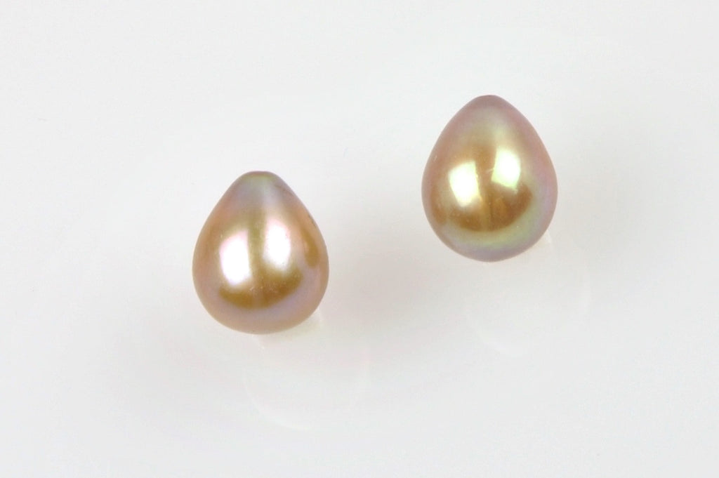 dyed coppery pearl drop pair