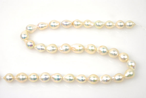 long large drop ivory pearl strand