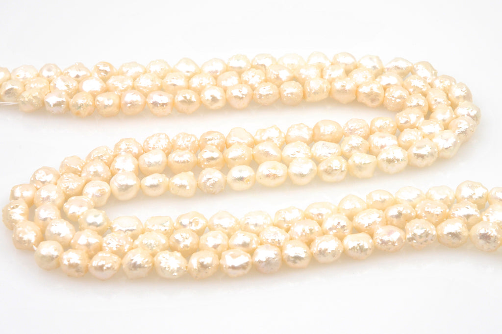 3 strand lot of champagne rosebud pearls