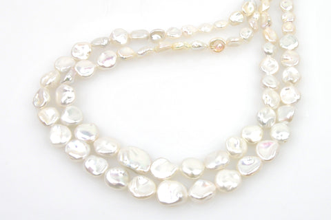 2 strand lot of graduated petal pearls