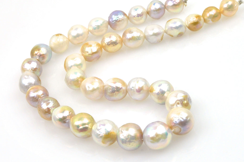 iridescent golden ripple pearls